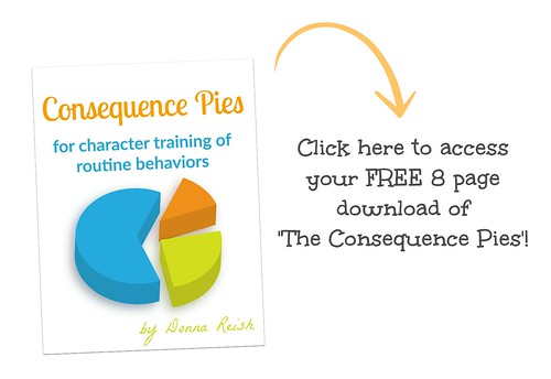 Click here for a FREE 8 page worksheet download on the 'Consequence Pies'