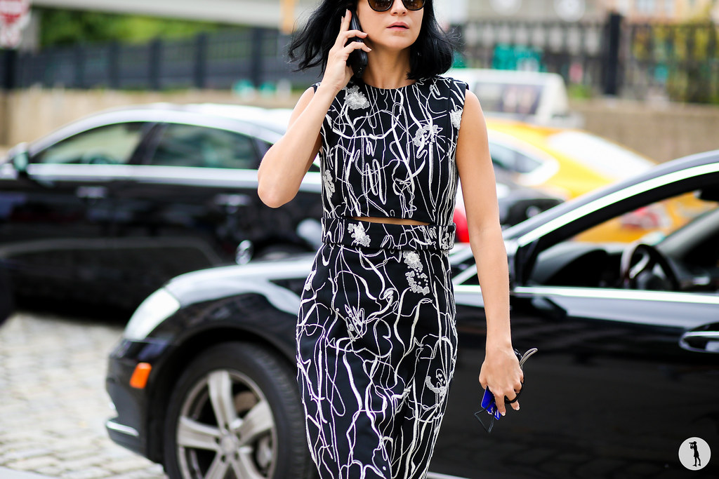 Leigh Lezark at New York Fashion Week