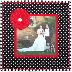 Polka Dot Custom Wedding Pillow by Whimzie Quiltz
