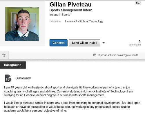 LinkedIn Gillan Piveteau