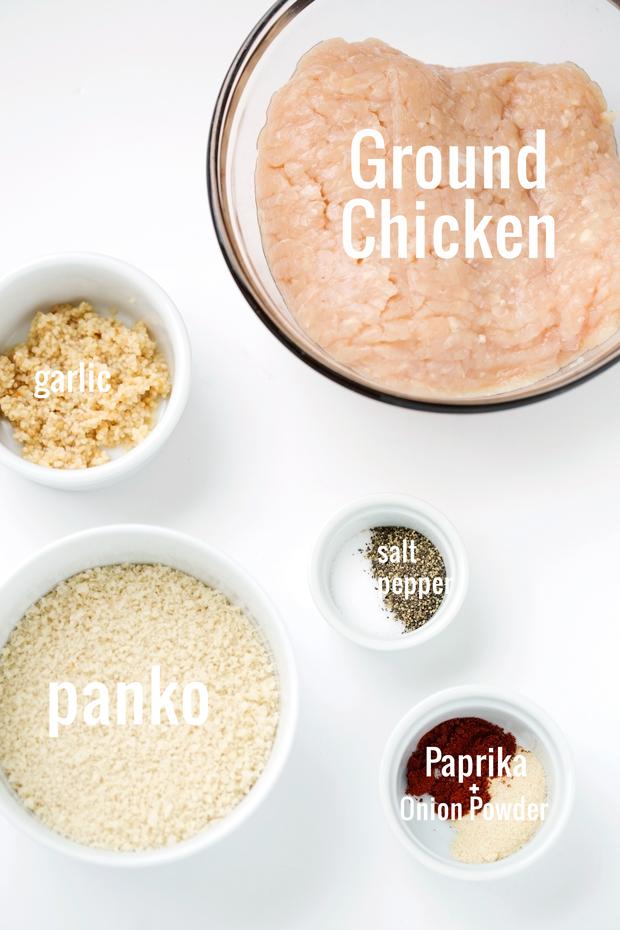 ingredients for chicken meatballs