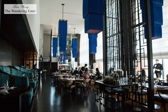 Interior of China Blue restaurant