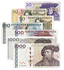 Sweden cash collage