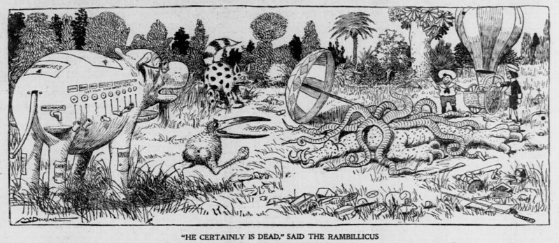 "Walt McDougall - The Salt Lake herald., August 03, 1902, ""He Certainly Is Dead,"" Said The Rambillicus"