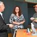 Professor Nebojsa Jaksic answers students questions after the presentation