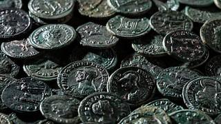 Swiss hoard Roman coins