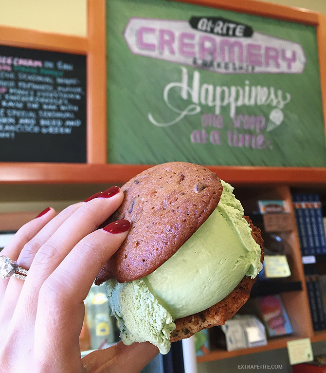 bi rite creamery san francisco - green tea ice cream sandwich