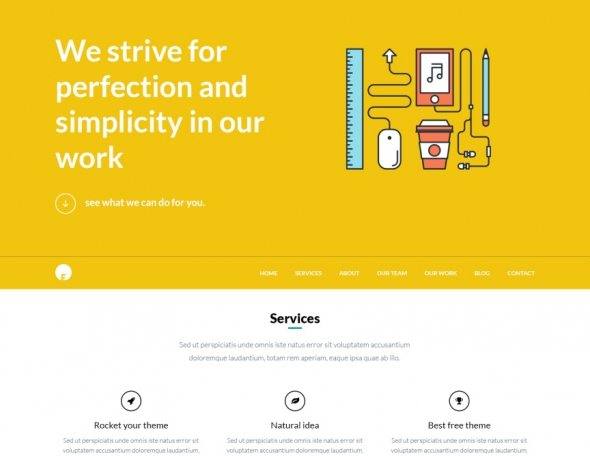 EngineThemes OneEngine v1.1 - Multi-Purpose One Page WordPress Theme