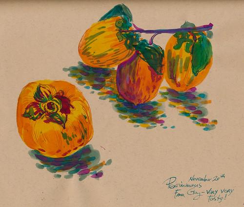 Sketchbook #93: Persimmons of November
