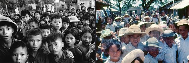 North and South Vietnamese Children During Vietnam War - Trẻ em Bắc và Nam Việt Nam thời chiến tranh VN