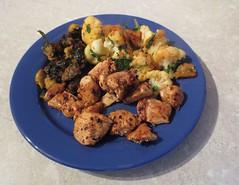 Berber Chicken Stir-Fry with Aubergine and Caulifl…
