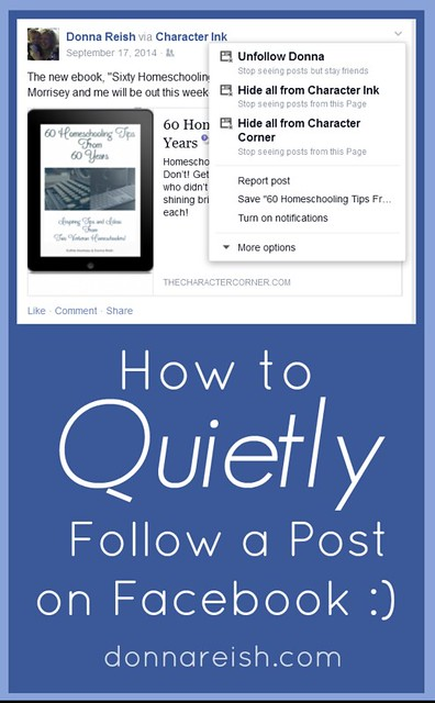 How to Quietly Follow a Post on Facebook