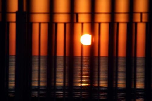 alba sunrise sole sun mare sea fence velocità speed davidbowie