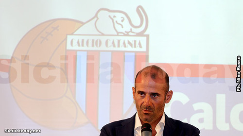Catania, presentato il neo tecnico Giuseppe Pancaro e lo staff $