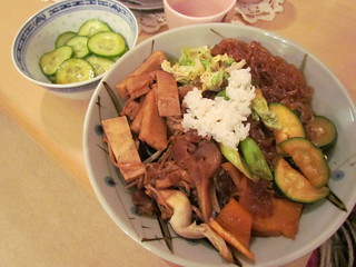 Sukiyaki and Cucumber Salad with Wa-Fu Dressing