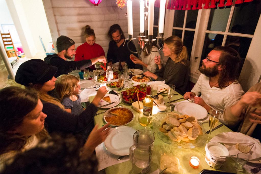 Crayfish party in Sandviken