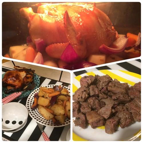 彎's Cafe 是日晚餐:蜜汁燒雞 一口牛 #美食 #彎sCafe #脫宅行動