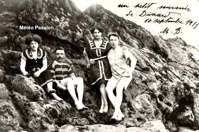 plaisirs du bord de mer à Dinard dans la chaleur du 10 septembre 1911 météopassion