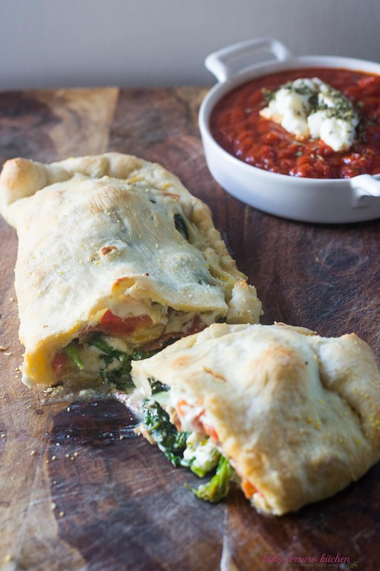 Calzones Stuffed With Broccoli Rabe and Ricotta via LittleFerraroKitchen.com