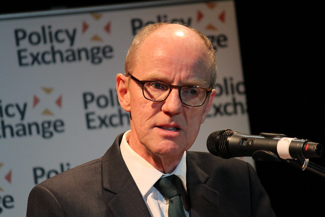 Schools minister Nick Gibb MP gives the introducation at the second annual Policy Exchange Education Lecture
