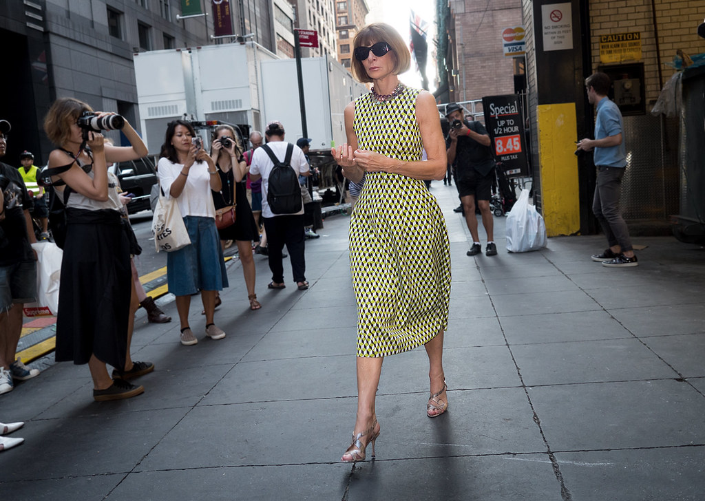 Anna Wintour on 54 St.
