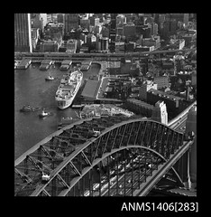 SS Oriana berthed in Sydney Harbour, c 1960