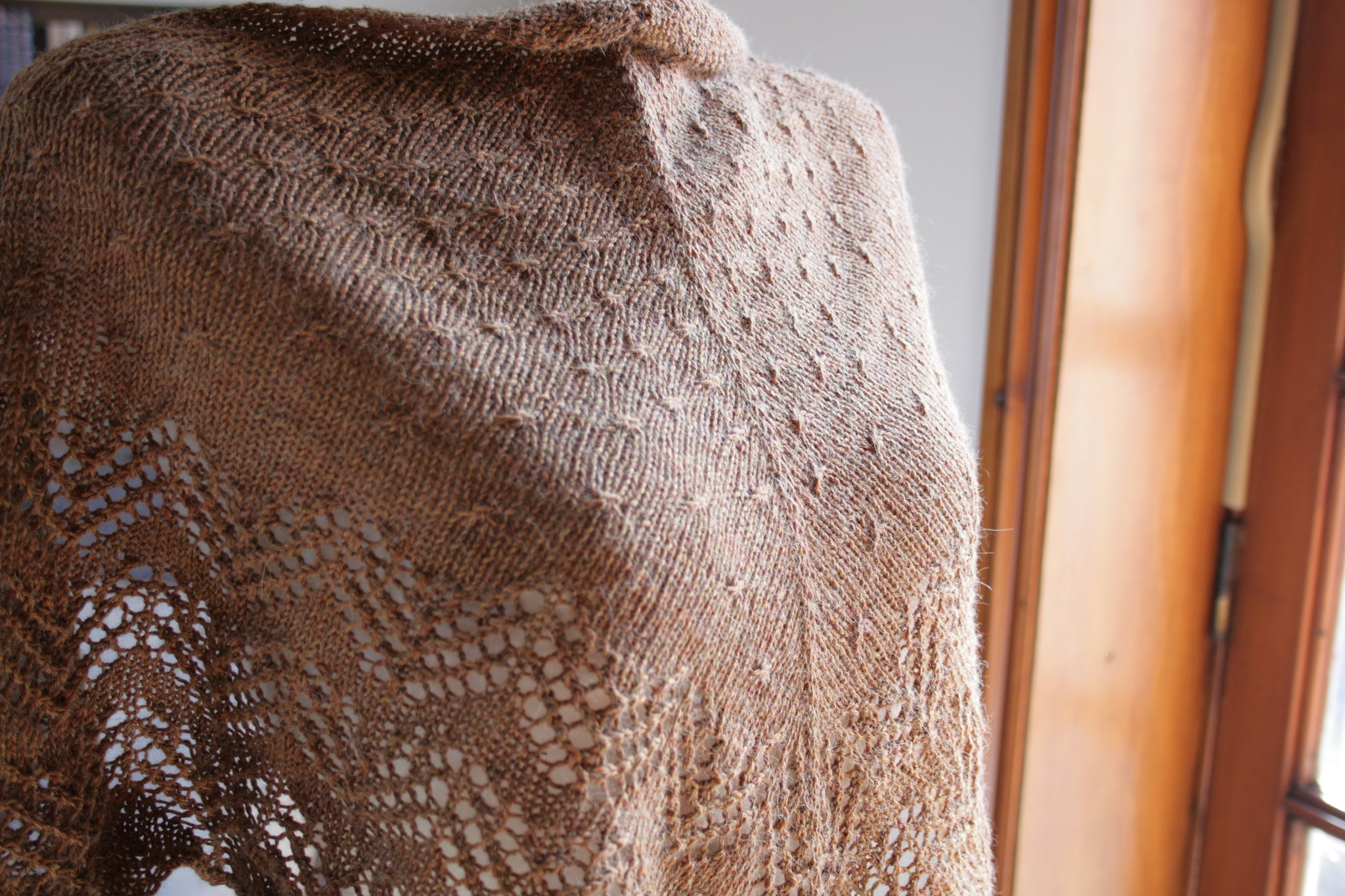 Swedish Spring Shawl close-up