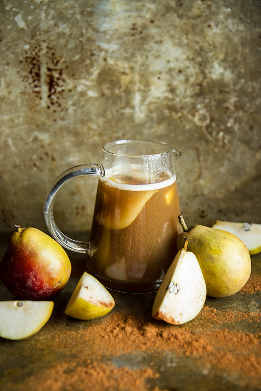 Bourbon Spiced Pear Cider
