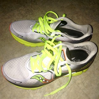My Saucony Kinvara 6 running shoes