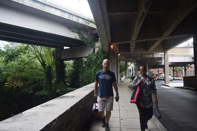 Image of Stern and Winkfield walking on K St.