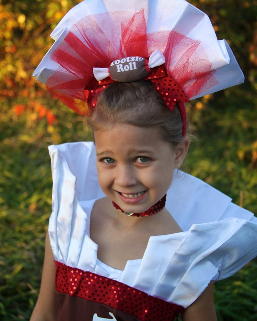 Tootsie Roll Kids Costume Homemade Tootsie Roll Costume Sc 1