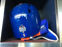 David Wright World Series helmet