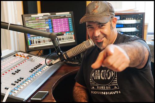 Marc Stone on WWOZ 2015 Fund Drive day 1. Photo by Ryan Hodgson-Rigsbee - www.rhrphoto.com