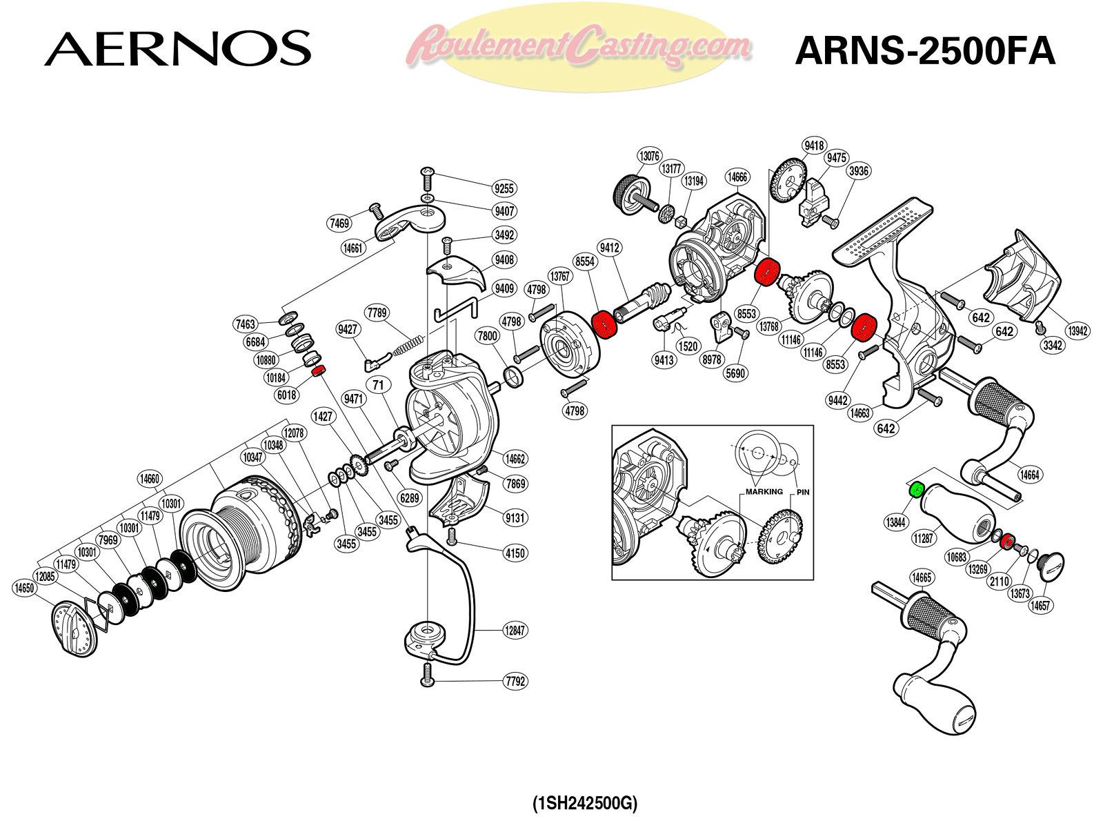 Schema-Shimano-AERNOS-2500FA
