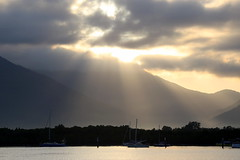 The sun rises over Cairns, Australia