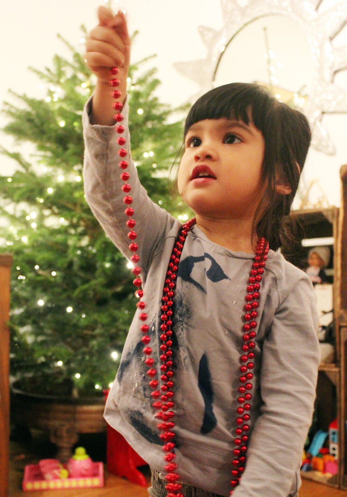 Tala and the Christmas decoration