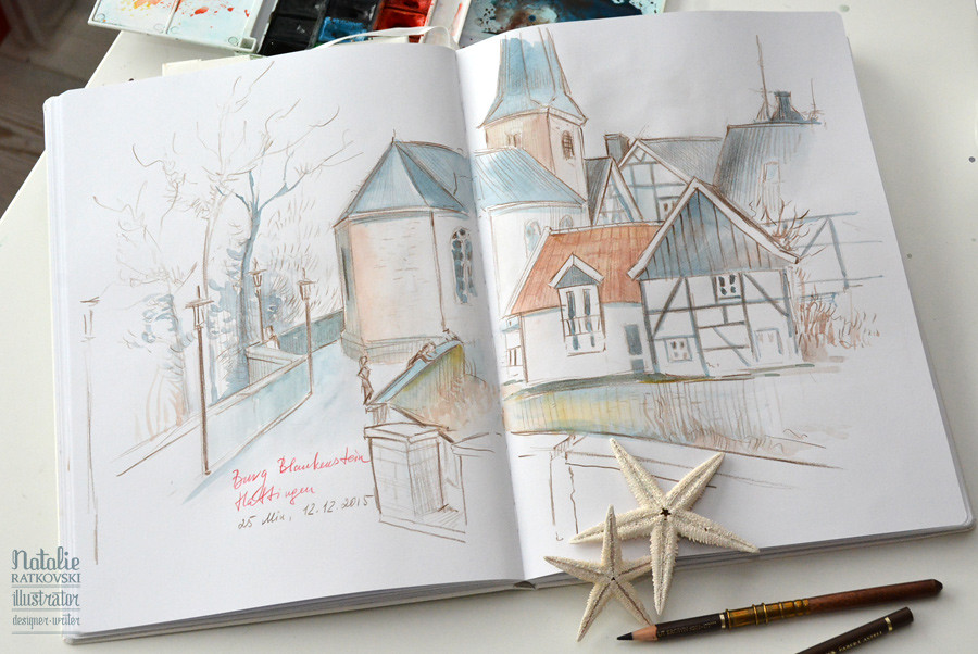 My sketches from nature in Hattingen