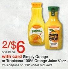 Simply Orange Juice at Walgreens