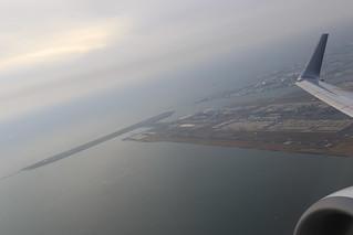 羽田空港離陸中
