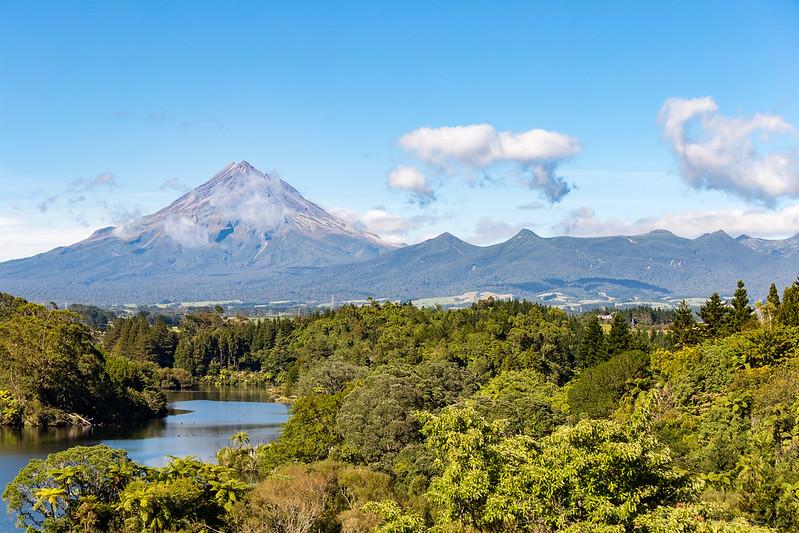 Mount Taranaki From Lake Mangamahoe