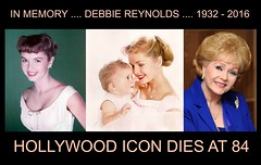 Debbie Reynolds Dies Of A Broken Heart .... One Day After Daughter, Carrie Fisher, Passes Away ....