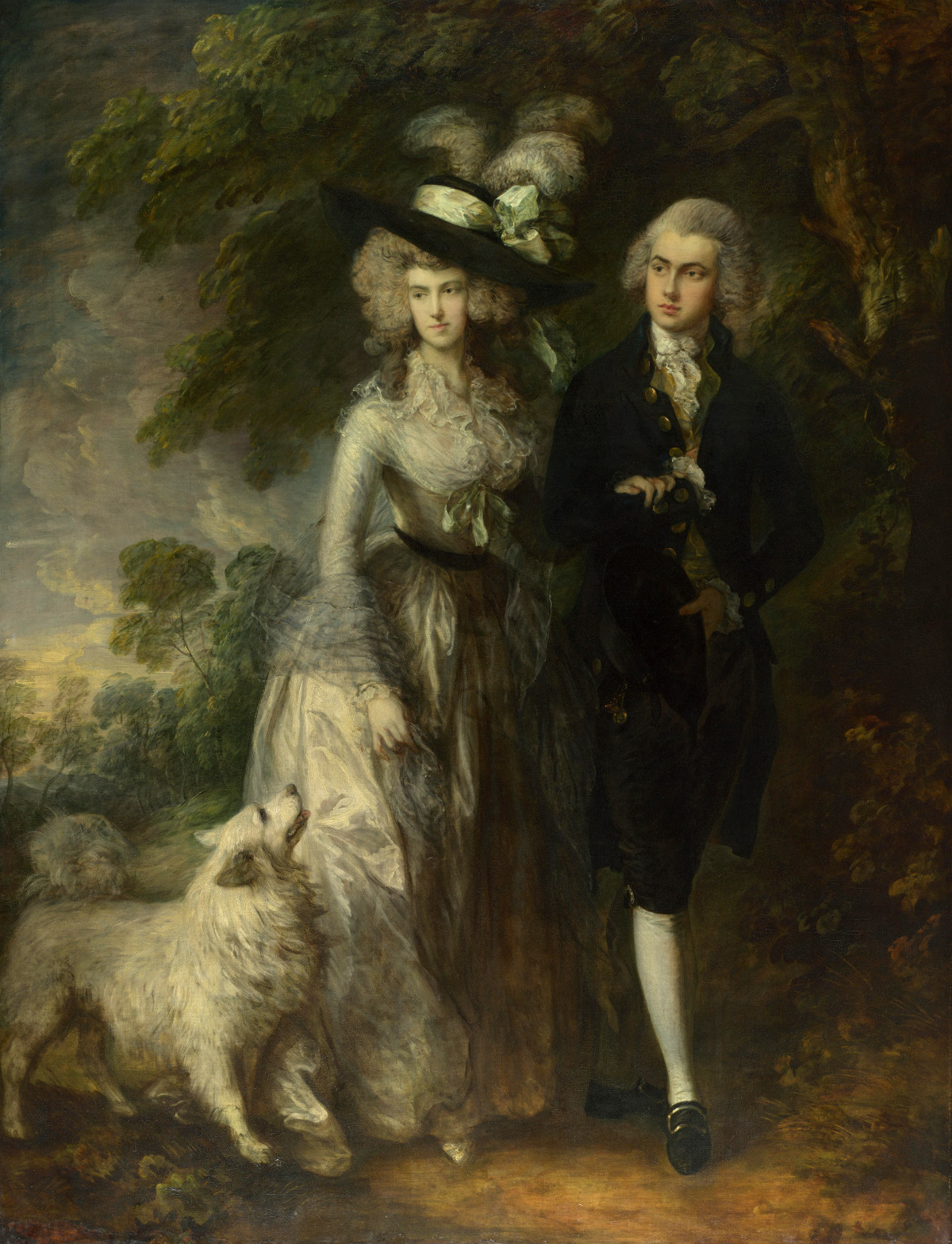 "Mr and Mrs William Hallett (""The Morning Walk"") by Thomas Gainsborough, 1785"