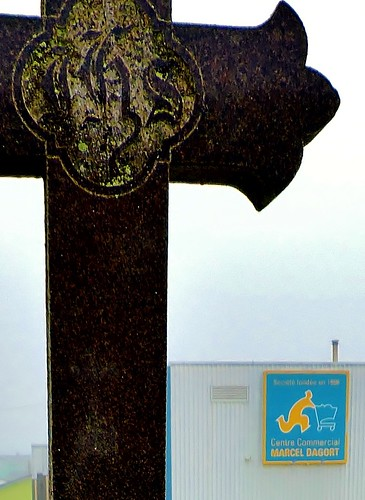 cross supermarket grocerystore mypics stpierre stpierreandmiquelon stpierreetmiquelon france cemetery headstones gravestones tombstones