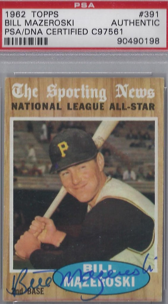 1962 Topps National League All Star Bill Mazeroski 39