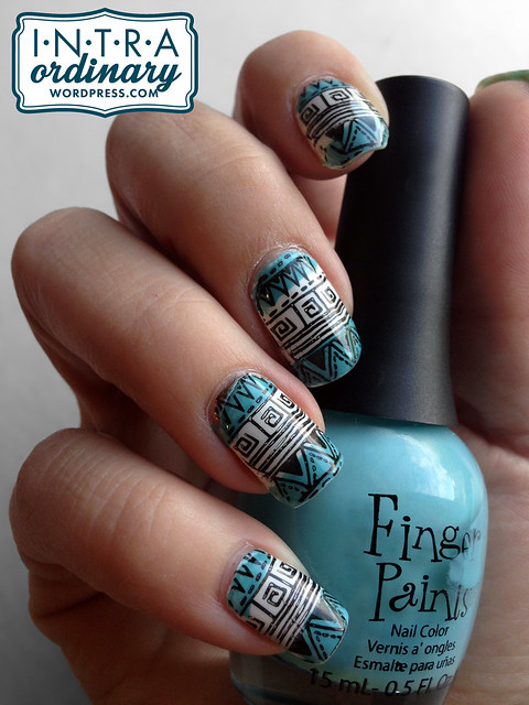 Tribal Stamped Nails