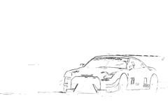 Nissan GT-R NISMO GT3 MRS GT Racing Pencildrawing by www.autozeichnungen.net