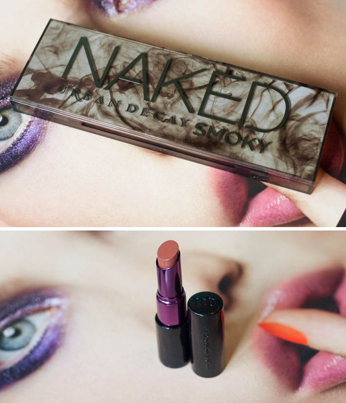 Urban Decay Smoky palette and matte revolution 1993 lipstick review