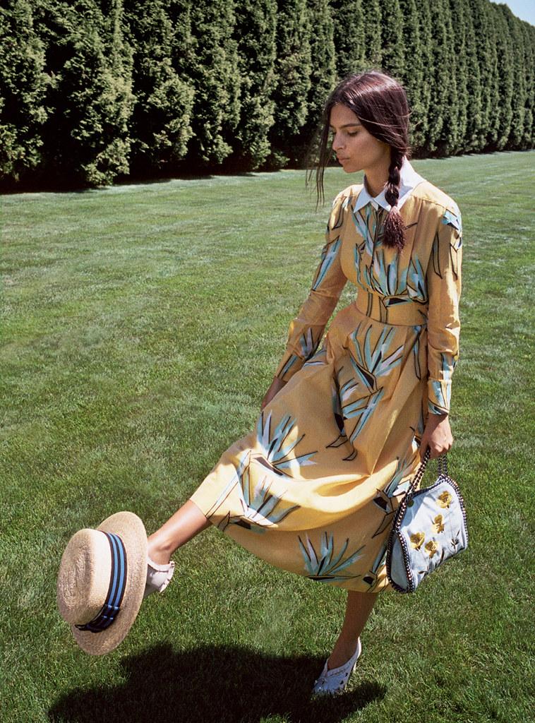 Эмили Ратайковски — Фотосессия для «Vogue» 2015 – 5