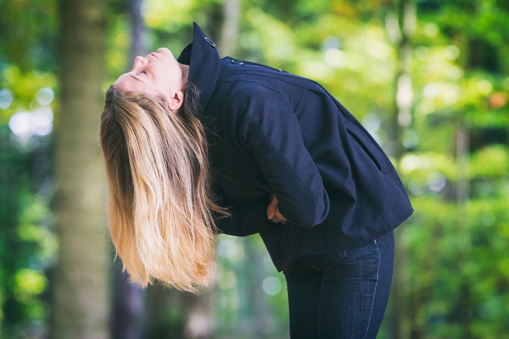 Yoga i bokskogen.