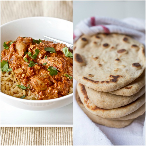 Slow Cooker Chicken Tikka Masala and Easy Homemade Naan
